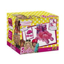 Patins Ajustável 3 Rodas Barbie 29 A 32  - Fun -