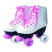 Patins Barbie Quad Rosa Quatro Rodas Bota N 37 38 - Fun - Fun Divirta-Se