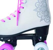 Patins Barbie Quad Rosa Quatro Rodas Bota N 37 38 - Fun