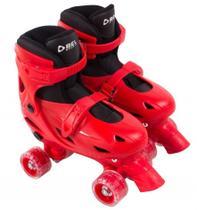 Patins clássico 4 rodas ajustável 37 ao 40 g vermelho belfix - Bel fix