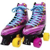 Patins Clássico Tradicional Quad 4 Rodas Roller de Rua Feminino Menina Rosa Importway BW-020-R -