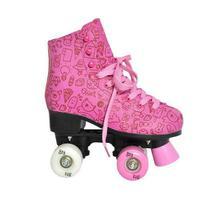 Patins Feminino Roller Estilo Rosa TAM 39 DM TOYS DMR5500 -