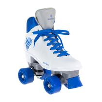 Patins Gonew Quad Basic Rolamento 608zz Exclusivo Bco e Azul -