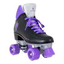 Patins Gonew Quad Basic Rolamento 608zz Exclusivo Pto e Roxo -