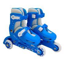 Patins importway 3 rodas 2 em 1 azul p tam 31/34 bw022azp -