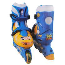 Patins In Line Ajustáveis - Toy Story - Tamanho 29 a 32 - DTC -