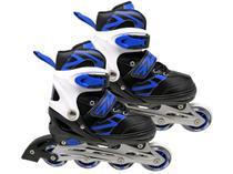 Patins In Line Infantil DM Radical Azul e Preto -
