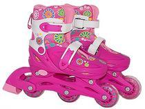 Patins Infanti Roller Feminino Com Capacete e Acessórios 28-31 - Bbr toys