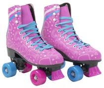 Patins Infantil 4 Rodas Feminino quad Roller e Skate Rosa 35-36 - Bbr toys