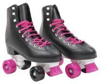 Patins Infantil 4 Rodas Feminino quad Roller e Skate Rosa 37-38 - Bbr toys