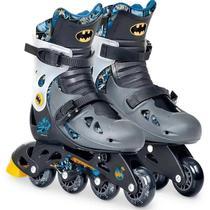 Patins Infantil Batman Kit Segurança Ajustável 33 ao 36 Fun -