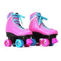 Patins Infantil Feminino 4 Rodas Roller 34 Ao 40 Luna Rosa MC84280 - Mega Compras