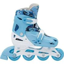 Patins Infantil In Line Fashion Rollers Bel P 28/31 Azul Clraro