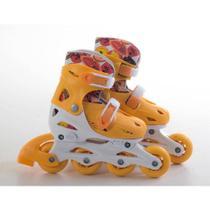 Patins Infantil In Line Fashion Rollers Bel P 28/31 Laranja -