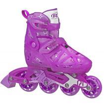 Patins Infantil Inline Roller Derby Tracer Girl Ajustável -