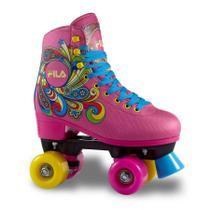 Patins Infantil Quad Fila Skates Bella Pink -