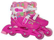 Patins Infantil Roller Feminino Capacete Acessórios 32 - 35 - Bbr toys
