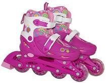 Patins Infantil Roller Feminino Capacete Acessórios 36-39 - Bbr Toys