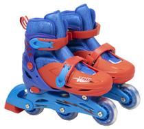 Patins Infantil Roller Triline e inline  Masculino com Acessórios e Capacete 28-31 - Bbr toys