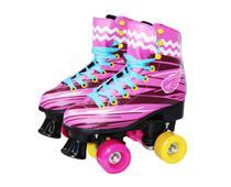 Patins infantil rosa clássico quad roller retro 4 rodas novo - Roller way