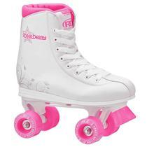 Patins Infantil Tradicional Quad Roller Derby Star 350 Girl Rosa 4 Rodas -