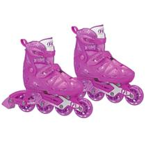 Patins Inline - Tracer Girl - RollerDerby - Pink - Tam 31/35 - Fila -