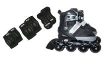 Patins Inline Urban 36 ao 39 Multilaser Com Kit semi Profissional Row - Mor/multilaser
