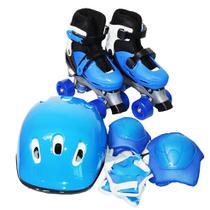 Patins Masculino Feminino 4 Rodas Ajustável C/ Kit Proteção - Importway