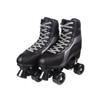 Patins N 36/37 Tradicional Preto C/4 Rodas Roller Skate Fênix Rl01P - Fenix