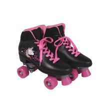 Patins Quad Love Unicornio Preto 37 BELFIX -