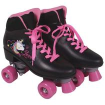 Patins Quad Love Unicórnio Preto Nº 38 Bel. - Bel fix