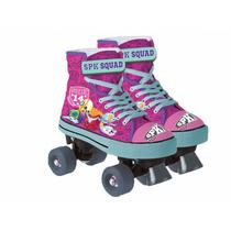 Patins Quad Roller 04 Rodas Shopkins 4070 Dtc -