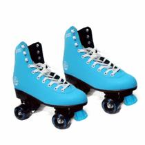 Patins Quad Roller 4 Rodas 37 Azul Discovery Adventures Yins -