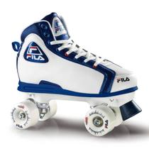 Patins Quad Smash Branco e Azul 35 - Fila - Froes