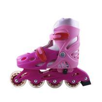 Patins Rodas Roller Silicone Rosa Banana Toys -