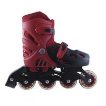 Patins Rodas Roller Silicone Vermelho Banana Toys -