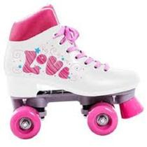 Patins Roller 4 Rodas Quad Love Branco TAM 35 BEL FIX 373500 - Belfix