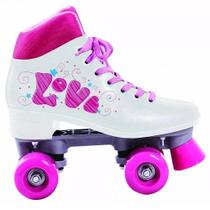 Patins Roller 4 Rodas Quad Love Branco TAM 36 BEL FIX 373600 - Belfix