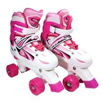 Patins Roller Feminino Ajustável Pink 39-42 Homeplay Xplast -