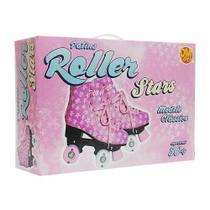 Patins Roller Feminino Estilo New Rosa - Dm Toys - 37 -