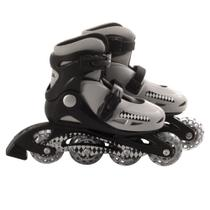 Patins Roller In-Line Radical Ajustável Cinza (P 28-31) - Bel sports