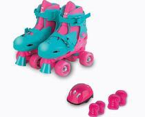 Patins Roller Infantil Ajustável Com Kit Proteção Fenix - Fênix