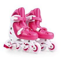 Patins Roller Infantil Rosa Regulável M do 35 A 38 - Mor -