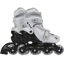 Patins Roller Mor 34 A 37 Cinza Regulável Premium Infantil - Met. mor