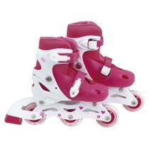 Patins Roller Regulável Infantil P Tam. 30-33 Rosa - 40600121 - Mor