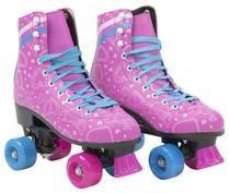 Patins Roller Retrô Quad  4 Rodas Rosa Clássico 33/34-35/36-37/38 - Bbr Toys