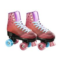 Patins Rollers 4 You Quad TAM. 34 Rosa Multikids - BR923