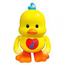 Pato Dançante Brinquedo Musical C/ Luz E Som - Dm Toys -