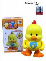 Pato Musical Brinquedo Dançante c/ música e luzes PINTINHO - Dm Toys