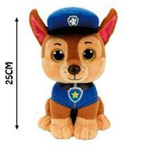 Patrulha Canina Chase 25cm Beanie Boos Coleção Pelúcia TY - Dtc